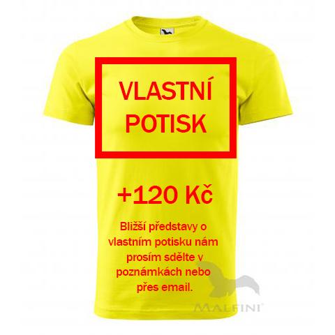 Žluté tričko s vlastním potiskem